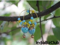 Beautiful Blue And Gold Terracotta Designer Jewellery