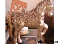 Silver Metal Animal Statues