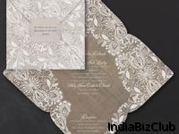 Lace And Burlap Self Mailer Invitation