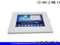 White Metal Secure Ipad Kiosk Enclosure For The Galaxy Tab 10 1 Inch