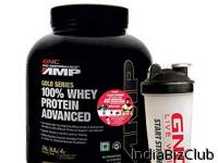 GNC AMP Gold 100 Whey Protein Advanced 5Lbs