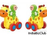 Benison India Swing Animal Show Smart Deer With Four Wheels