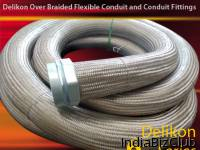 Delikon Automation EMi Shielded Antistatic HEAVY SERIES FLEXIBLE SHEATH Heavy Series Over Braided Flexible Conduit Heavy Series Conduit Fittings Where Applications Are Within Arduous Areas Then Delikon Braided Flexible Conduit Systems Offer A Complet