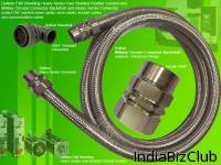 Delikon Heavy Series Over Braided Flexible Conduit With MS Adapter For Servo Motor Cable In Industrial Machines Automation Delikon Heavy Series Over Braided Flexible Conduit With MS Adapter For Servo Motor Cable Finds Wide Applications In Protecting