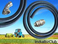 Delikon Industry Wiring Liquid Tight Conduit RUBBER COATED LIQUID TIGHT CONDUIT And Fittings Protect Agricultural Equipment Robotics And Automation Cables Delikon Industry Wiring Rubber Coated Liquid Tight Conduit Liquid Tight Connector For Agricultu