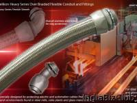 Delikon Machinery Heavy Series Over Braided Flexible Conduit Braided Conduit Fittings For Steel Industry Automation Cabling Solution Delikon Heavy Series Over Braided Flexible Conduit And Braided Conduit Fittings Are Designed For Steel Industry Contr