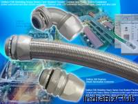 DELIKON Automation AUTOmation Wiring HEAVY SERIES Over Braided Flexible Conduit Metal Flexible Conduit Fittings Connector For Automation Cable Management In Industry Automation Environment Delikon Over Braided Flexible Conduit Fittings Provide Very R