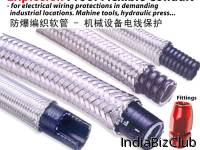 Delikon Steel Mill Automation Electric Braided Flexible Steel Conduit Systems For EMI Shielding And Abrasion Resistance Comprises A Standard Conduit Construction With Metallic Overbraid Typical Electric Wiring And Cables Protections Applications Wher