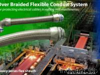 HEAVY SERIES Over Braided Flexible Metal Conduit HEAVY SERIES Conduit Fittings For Industry Wiring Over Braided Flexible Conduit Heavy Series Flex Sheath For Protection Of Industrial Electrical Cables Against Water Oil Grease Solvents And The Outer B