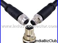 A B D X S Code M12 3 4 5 8 12 Pin Male To Female Straight Right Angle Molded Cable Pvc Pur Material