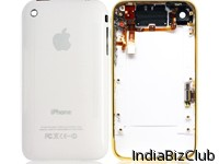 IPhone 3G 8GB White Back Cover Housing With Golden Mid Bezel
