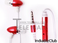Professional And High End Stylish Bullet Earphone For IPhone IPad Red