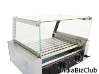 HOT DOG ROLLER WITH REMOVABLE GLASS COVER HD 209D