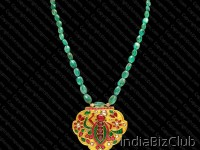 Bollywood Designer Jewelry Ruby Emerald And Diamond Necklace TMP 835