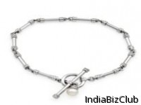 SILVER PLATED PEARL BRACELET