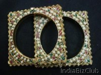 Gold Plated Antique Bangles