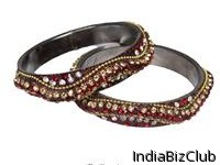 Traditional Austrian Crystal Brass Lakh Bangles