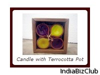 Candle With Terrocotta Pot