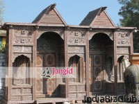 Indian Architectural Wooden Front Entry Gate For Resort