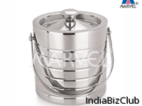 Double Wall Ice Bucket With Ribbed