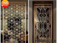 Bespoke Alu Laser Cutting Screen Customized Partition Laser Cut Metal Dubai High End Room Divider Screen Hotel Partition Wall