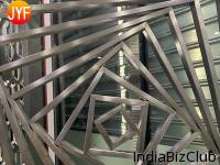 Custom Hotel Stainless Steel Hall And Dining Banquet Room Cnc Cutting Partitions Indian Restaurant Decoration