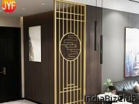 Customized Stainless Steel Office Wall Partition Door Room Divider Interior Home Decorative Partitions For Conference