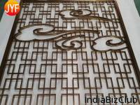 Dubai Room Divider Stainless Steel Laser Cut Privacy Decorative Customized Screen Panels Hotel Room Metal Art Partition Wall