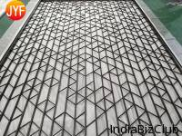 Stainless Steel Living Room Partition Screen Laser Cut Cnc Carved Interior Metal Partition Screen