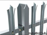 W Section Triple Point Galvanized Palisade Fence