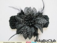 Birthday Party Trendy Grey And Black Flower Hair Band For Kids