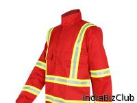 100 Cotton Fireproof Work Jacket For Workman In Oil Gas Industry