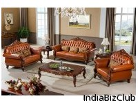 Leather Collection Sofa Love Seat And Chair Set With Luxury Pillow