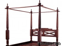 Bali Antique Style Canopy Bed Frame