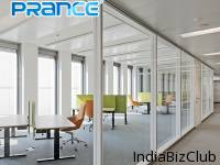Sound Insulated Newest Office Building Lobby Single Glass Partition