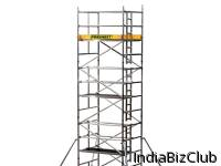 ALUMINUM SCAFFOLDING TOWER WITH LADDER FRAME
