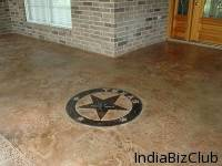 Stamped Overlay Flooring Wall
