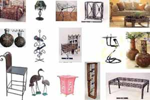 Wrought Iron furniture and crafts