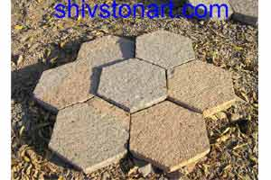 Natural surface  hand cut stone pavers