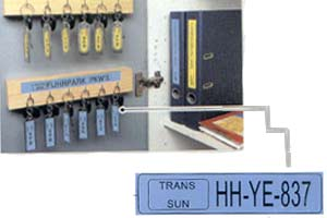 Laminated Label for KEY IDENTIFICATION
