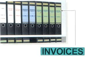 Laminated Label for INVOICE Files