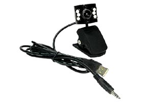 USB Web Camera With LED Night Vision & Built-in Microphone (Case Of 20 Units) SKU: 050815A