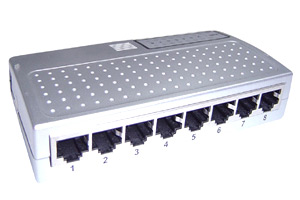 8 Port Mini Ethernet Hub