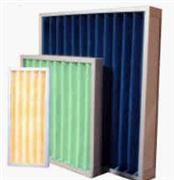 Plastic frame for panel filters