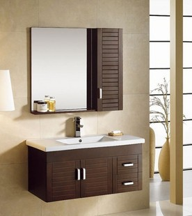 Smooth and bright, nice bathroom cabinet