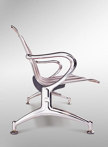 Supply Chromed Steel Frame Airport Waiting Chair