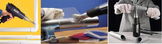 Hand Held Hot Air blowers and Heat Guns for thermoplastic welding, repairs and fabrication of Tanks,