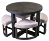Round Breakfast Table with 4 Stools (MM-D205)