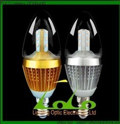 360D DIMMABLE E14 E27 5W LED Candle Light LED Light Bulb For Crystal Chandelier CE&Rohs