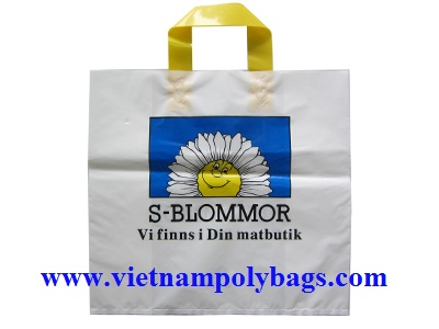 Soft loop handle plastic bag: http://vietnampolybags.com